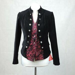 Joe Browns Black Sultry 2 In 1 Velvet Jacket Size 12 Rrp £74.95 CR015 BB 13
