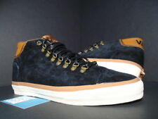 2010 VANS MID SKOOL '77 CA HIKER BLACK WHITE BROWN SUEDE OLD VN-0LYMHKR NEW 12