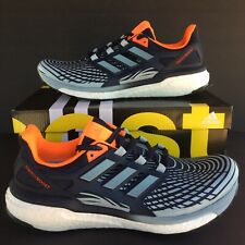 Adidas Energy Boost Mens Running Shoes Size 10 Blue Orange Lightweight CP9540