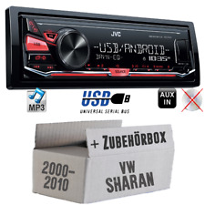 JVC Auto Radio für VW Sharan 1 7M MP3 USB 4x50Watt KFZ PKW Set Autoradio Android