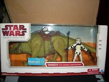 STAR WARS TLC USA WALMART EXCLUSIVE ULTRA RARE DEWBACK WITH SANDTROOPER BOXED.