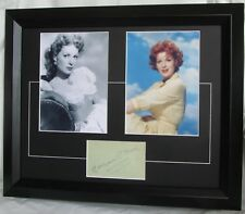 MAUREEN O'HARA SIGNED ACTRESS FRAMED MATTED SIGNED PAGE  MOHEBF AFTAL #199