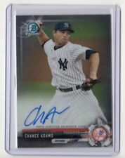 CHANCE ADAMS 2017 Bowman Chrome Base Rookie Auto Autograph NYY Yankees #CPA-CAD