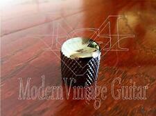 1   MVG SIFKBN  Vintage Guitar Flat Top Metal Volume Knobs Knurled  Black Nickel