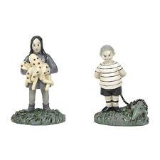 Dept 56 Addams Family Wednesday & Puglsey & Pets New 2020 6005627 Halloween Set2