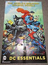 Superman & Batman World's Greatest DC Comics Essentials Promo Poster NEW 2016