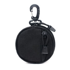 BLACK Tactical Wallet Military Key Zip Coin Purse Mini Molle Pouch EDC Bags USA
