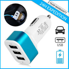 Best 3x Port Triple USB A+ Auto lader Car Charger Oplader Chargeur Voiture Blue