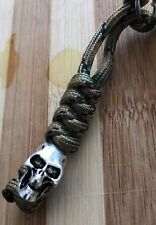 Paracord Lanyard With Skull Bead  Cammo EDC Keychain Tad Maxpedition 5.11
