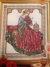 Joan Elliott Renaissance Rose Historical Medieval Lady Cross Stitch Chart