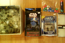 New Star Wars mini game lot 74 plus fig starter and expansion huge Clone wars