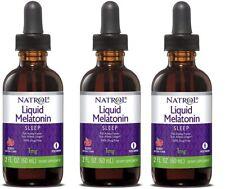 Natrol Liquid Melatonin Sleep Berry Flavor 1mg 2 fl oz  3 Pack!   Exp:  MAR 2021