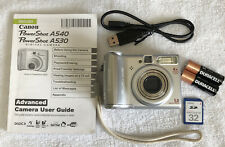Canon PowerShot A530 5.0MP Digital Camera - Silver~~Nr Mint~~Bundle~~SD Card~~