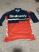 DNA Cycling Scullcandy bike jersey shirt-- Size small Pull Over
