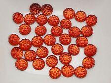 500 Red Round Flatback Resin Dotted Rhinestone Gem beads 6mm