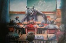 Ms Wolf Teacher Werewolf Class Horror Science Fiction Fantasy Art Print Signed