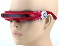 SPACE ROBOT ALIEN PARTY COSTUME CYCLOPS FUTURISTIC WRAP SHIELD SUN GLASSES Red
