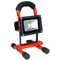 Portable Outdoor Camping Security 10W Rechargeable LED White Flood Light Lamp R
