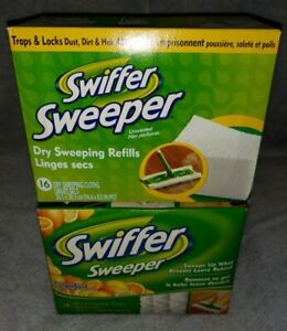 2 boxes 16ct Swiffer Sweeper Dry Cloths Refills, 1 Citrus, 1 unscented