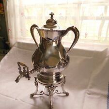 ANTIQUE EUREKA SILVER CO. SAMOVAR/COFFEE URN ENGRAVED MAY 6.1912