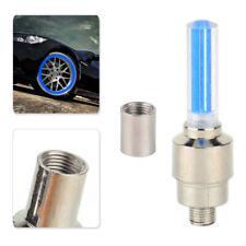 4x rueda neumático Vástago de la Válvula del Neumático Azul Tapa de luz aptos para Moto Bicicleta Auto Bicicleta