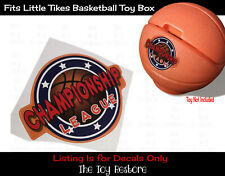 The Toy Restore Replacement Stickers fits Vtg Little Tikes Basketball Toy Box