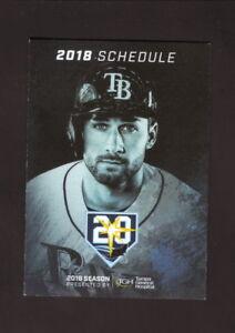 Tampa Bay Rays--Kevin Kiermaier--2018 Pocket Schedule--Tampa General Hospital