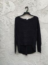 Anthropologie Moth Black Fishtail Sweater Size S