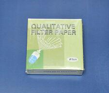 QUALITATIVE FILTER PAPER 9 cm 9cm 100 DISCS FAST Laboratory LAB solution filter