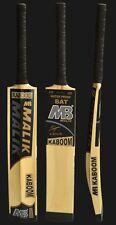 "MB Malik Tape & Tennis Ball Cricket Bat Light Weight ""Kaboom""New, With Bat Cover"