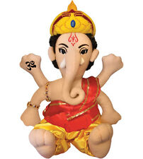 """GANESH plush DOLL 11"""" Toy Doll Ganesha Ganapati Little Thinker"""