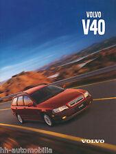 Volvo V40 V 40 Prospekt 10498-99 brochure 1999 Auto PKWs Schweden Autoprospekt