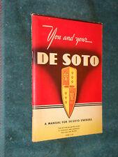 1942 DE SOTO OWNER'S MANUAL / GUIDE / RARE ORIGINAL S-10 DeSOTO  BOOK!!!