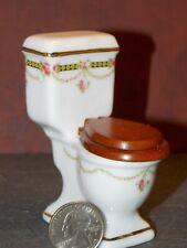 Dollhouse Miniature Toilet Victoria Reutter Porcelain 1:12 N42A Dollys Gallery