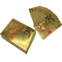 New High-Grade Gold Plated Dollar Shape Plastic Poker Playing Cards