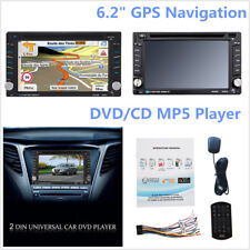 "Car Video Player 6.2"" Touch 2-DIN Car In-Dash Radio Bluetooth DVD CD Player GPS"