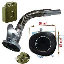 Bec verseur articulé flexible avec joint pour gerrican metal militaire type armé