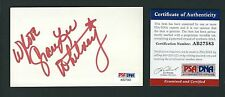 Grace Lee Whitney signed 3x5 card PSA Authenticated Classic Star Trek