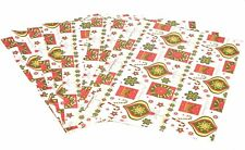 10 Sheets Christmas Gift Wrap Wrapping Paper Assorted Designs Cute & Traditional
