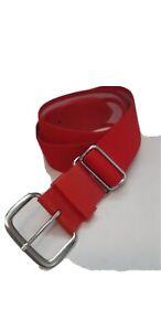 VTG ADIDAS buckle slide adjustable stretch belt golf sports RED 32-34 waist