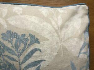 "2 X 18"" Laura Ashley Tenby Seaspray Fabric Cushion Covers Piped Bacall Seaspray"