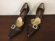 Micheal Kors Brown Pointed Toe Buckle Shoes Sz. 7 M