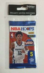 2020-21 NBA PANINI HOOPS SEALED PACK OF 5 Cards