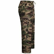 Mens Thermal Lined Army Camo Pattern Trousers Fleece Bottoms Camouflage Pants