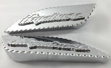 99-04-05-06-07 Hayabusa Chrome 3D Pocket Engraved & Ball Cut Side Gas Tank Pads!