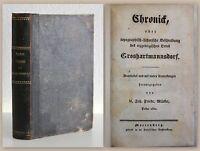 Märker Chronik Groshartmannsdorf 1820 Topografie Geschichte Großhartmannsdorf xz
