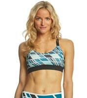 Brooks Ocean Wave/ Black Hot Shot Low Impact Sports Bra Women's Size S 8123