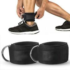 Gym Fitness Double D-Ring Padded Ankle Strap Cuffs for Cable Machines Attachment