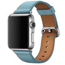 Piel Auténtica Negra Hebilla Muñeca Correa Para Reloj De Pulsera para Apple