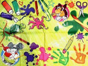 KIDS WATERPROOF MESSY MAT SPLASH ART FLOOR TABLE COVER PAINTING CRAFT PLAY FEED